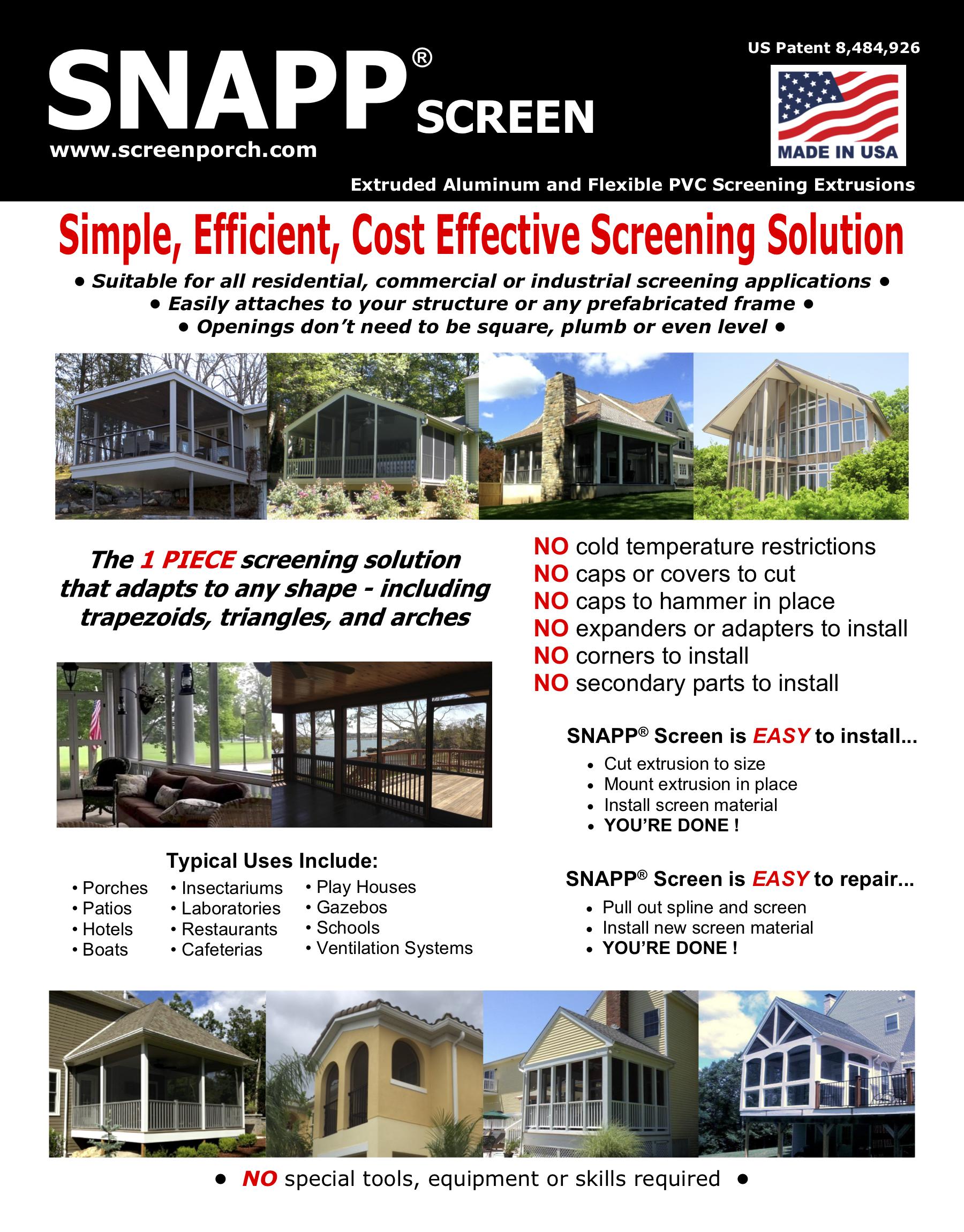 SNAPP Screen Spec Sheet PG1